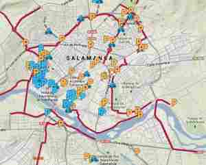 salamanca en bici mapa